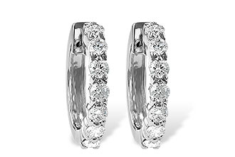 A186-12384: EARRINGS 1.00 CT TW