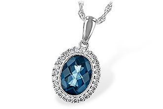 C189-74193: NECK 1.28 LONDON BLUE TOPAZ 1.41 TGW