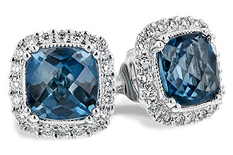 C189-74202: EARR 2.14 LONDON BLUE TOPAZ 2.40 TGW