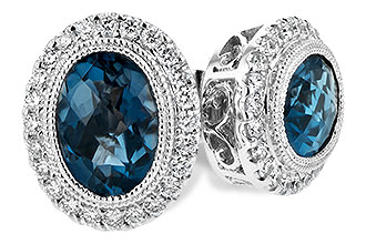 D189-74193: EARR 1.76 LONDON BLUE TOPAZ 2.01 TGW