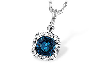 E189-74184: NECK 1.63 LONDON BLUE TOPAZ 1.80 TGW