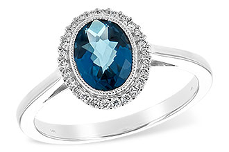 F189-74202: LDS RG 1.27 LONDON BLUE TOPAZ 1.42 TGW