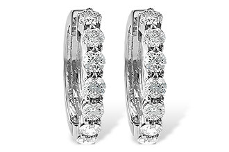 H186-12383: EARRINGS 2 CT TW