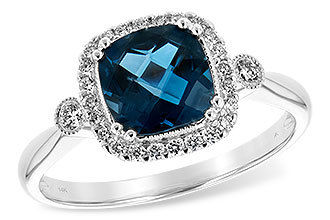 H189-74202: LDS RG 1.62 LONDON BLUE TOPAZ 1.78 TGW