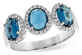 H190-64256: LDS RG 1.80 TW LONDON BLUE TOPAZ 2.02 TGW